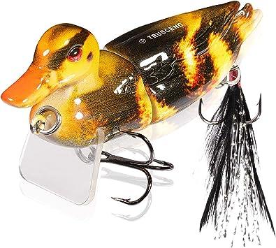 Multi 3D Eyes Topwater  Duck Soft Baits Treble hooks Fishing Lure For Snakehead