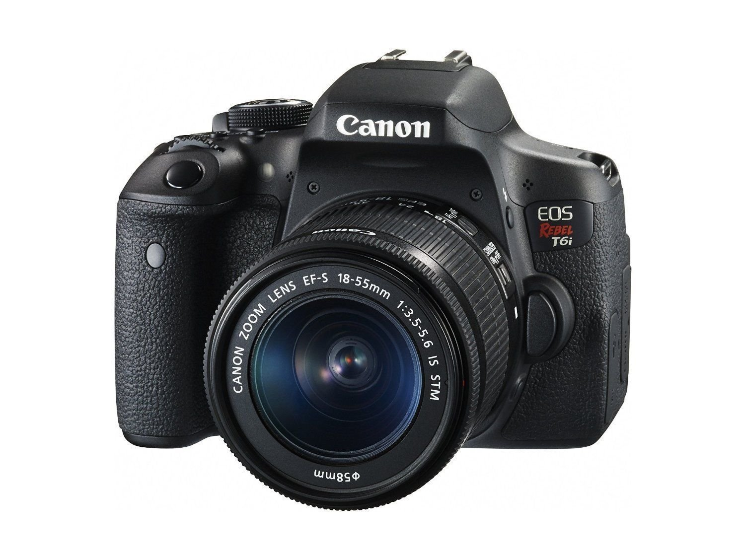 Amazon.com : Canon EOS Rebel T6i Digital SLR EF-S 18-55mm IS STM Lens + Canon EF-S 55-250mm + Polaroid 58mm .43x Wide Angle & 2.2X Lenses + Lexar 32GB 633x + Tripods + Polaroid 58mm Filter + Polaroid Accessory Kit