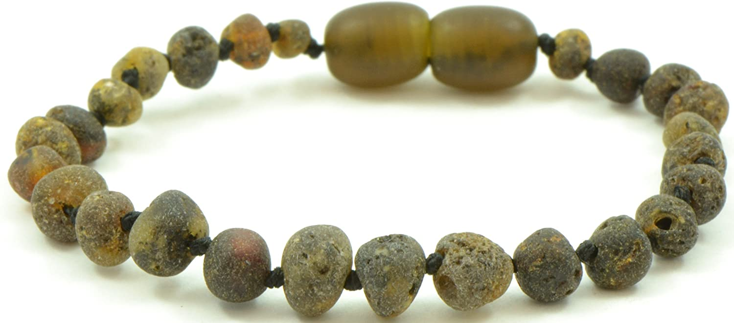 大割引 Unpolished Baltic Green) Amber Baltic Teething Bracelet -/ Anklet for Baby - Baltic Amber Land - Knotted for Safety - Hand-made From Raw/ Certified Amber Beads (14 cm (5.5 inches), Dark Green) by Baltic Amber Land B01DP7I1IW, AZnet:32c2e78d --- a0267596.xsph.ru