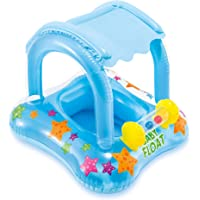 Oturaklı Ayak Geçmeli Gölgelikli Baby Float Bebek Simidi - İntex