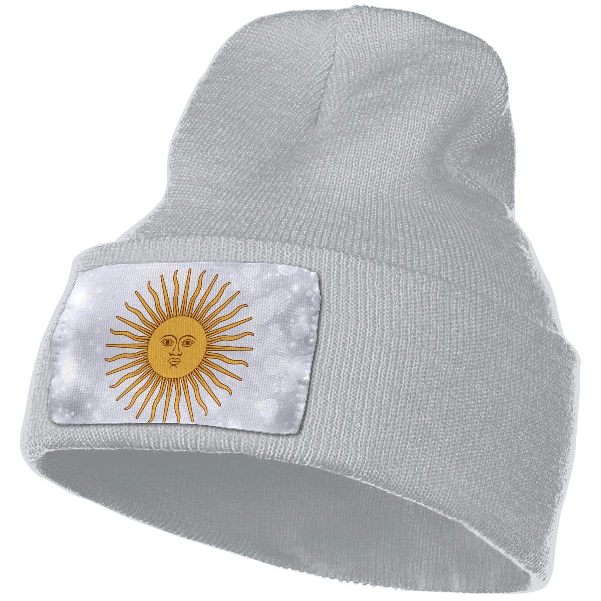 Flag of Argentina Sun Hat for Men and Women Winter Warm Hats Knit Slouchy Thick Skull Cap