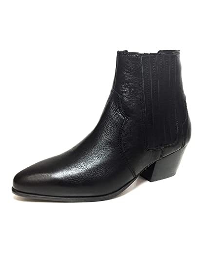 7b6fcaa00c9 Amazon.com: Mango Women Leather cowboy ankle boots 43090351: Clothing