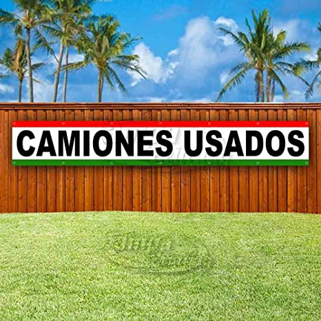 Advertising Store Many Sizes Available Flag, CAMIONES USADOS Extra Large 13 oz Heavy Duty Vinyl Banner Sign with Metal Grommets New