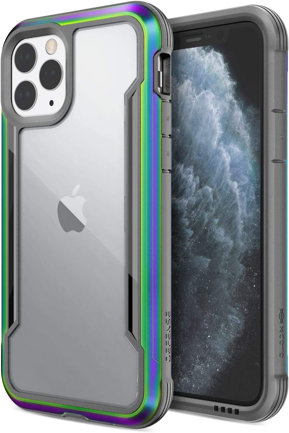 X-Doria Defense Shield, iPhone 11 Pro Case - Military Grade Drop Tested, Anodized Aluminum, TPU, and Polycarbonate Protective Case for Apple 11 Pro, (Iridescent)