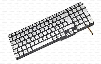 X-Comp - Teclado para Sony Vaio SVS15 (sin Marco, Incluye luz ...