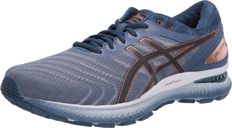 Buy ASICS Men's Gel-Nimbus 22 Shoes, 6.5M, Glacier Grey/Graphite ...