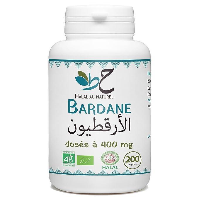 Arctium Bio Halal - 400 mg por comprimido - 200 pastillas...: Amazon.es: Salud y cuidado personal