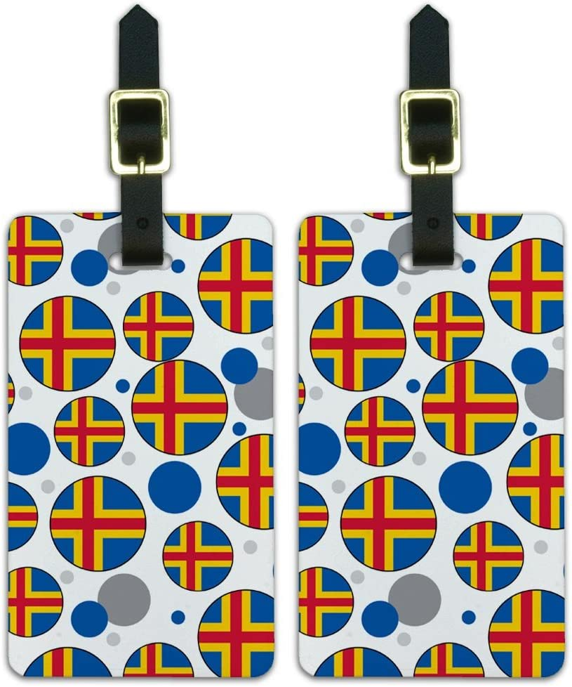 Graphics /& More c-Aland National Country Flag White