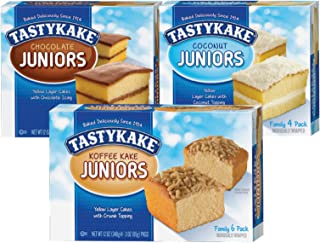 product image for Tastykake Chocolate, Coconut and Koffee Kake Juniors Family Size Variety Pack- A Philadelphia Baking Institution (Variety, 3 Pack)