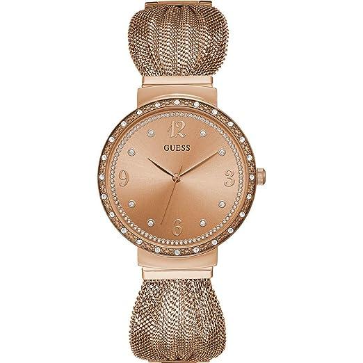 Guess Reloj Analógico para Mujer de Cuarzo con Correa en Acero Inoxidable W1083L3: Amazon.es: Relojes