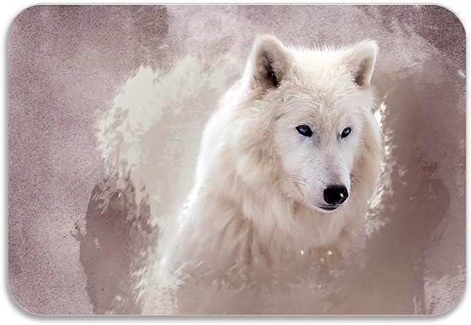 Amazon.com: Rosventur Art Wolf - Felpudo antideslizante con ...