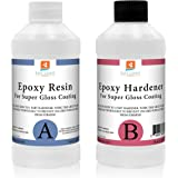 East Coast Resin EPOXY RESIN CRYSTAL CLEAR 32 oz Kit. FOR SUPER GLOSS COATING AND TABLETOPS