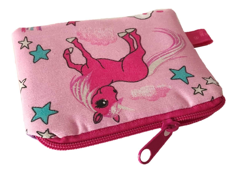 TryPinky® Mini Geldbeutel' Einhorn Rosa' Einhörner Pink Portemonnai Krims Krams Tasche Täschchen Mädchen Tasche Minitasche