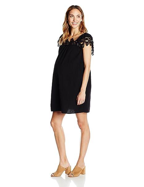 fe65ceed271 Maternal America Women's Crochet Babydoll Maternity Dress at Amazon Women's  Clothing store: