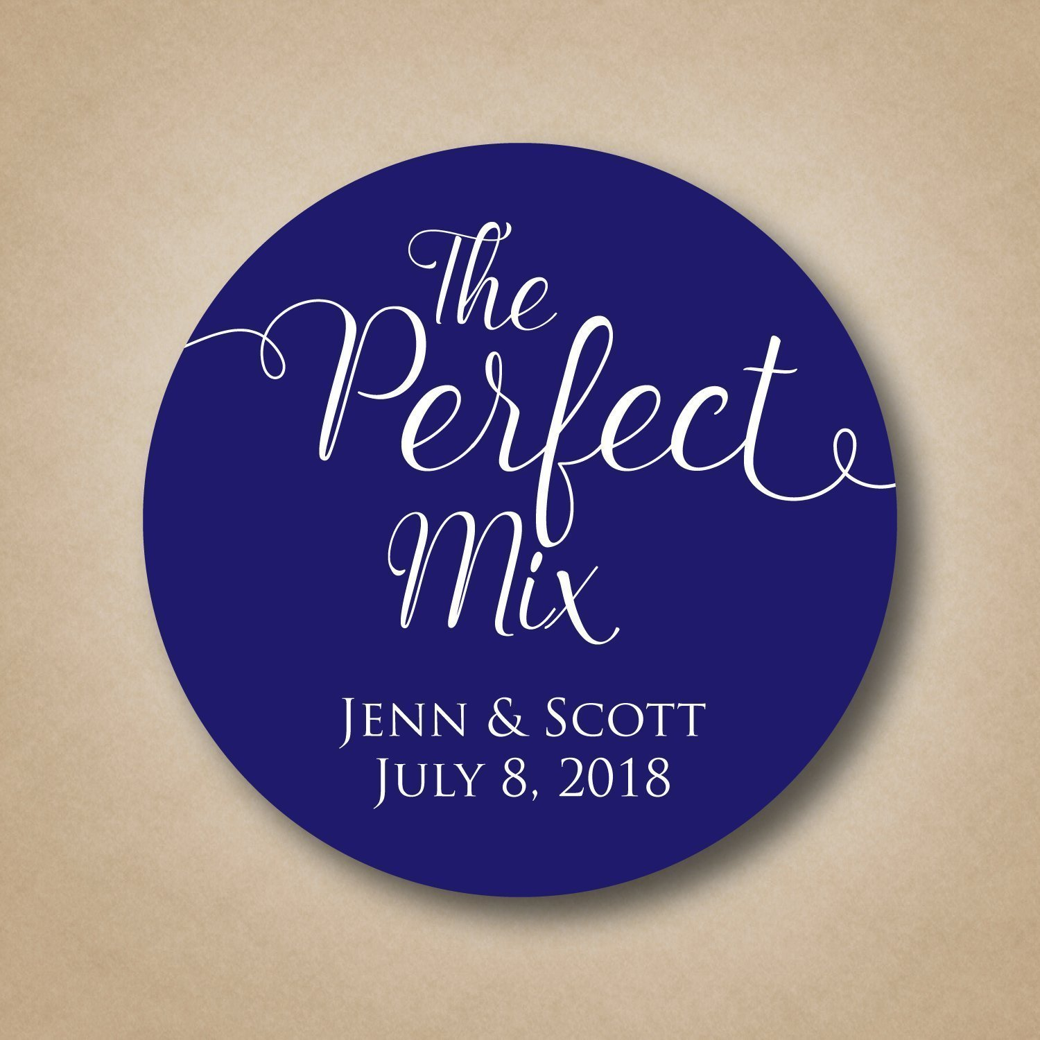 The Perfect Mix Wedding Favor Stickers