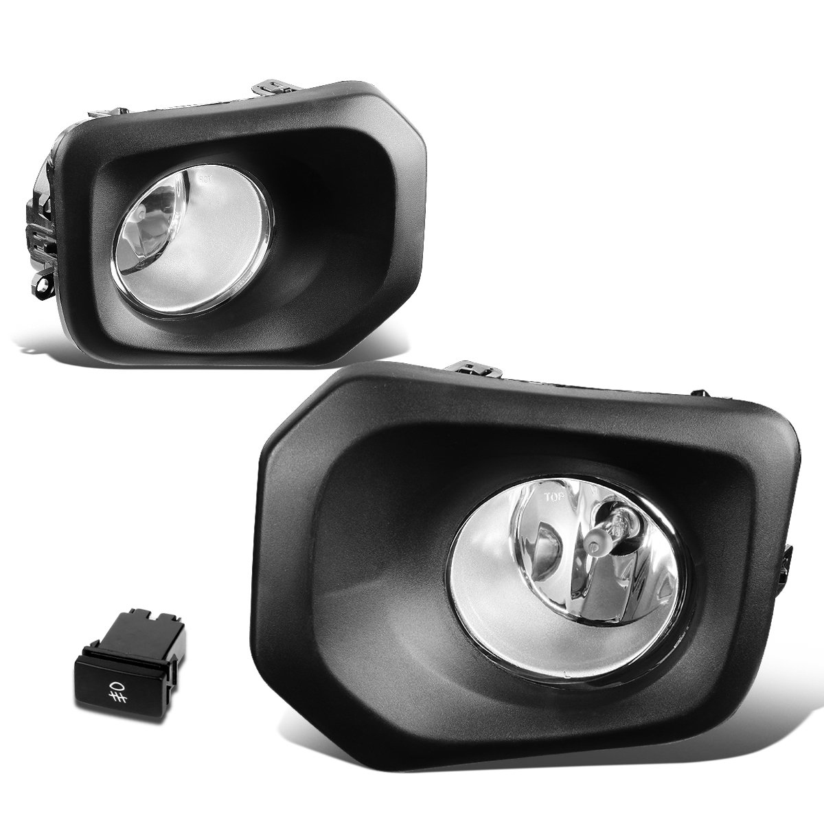 Amazon.com: For Toyota Tacoma Pair of Bumper Driving Fog Lights + Wiring +  Switch (Clear Lens): Automotive