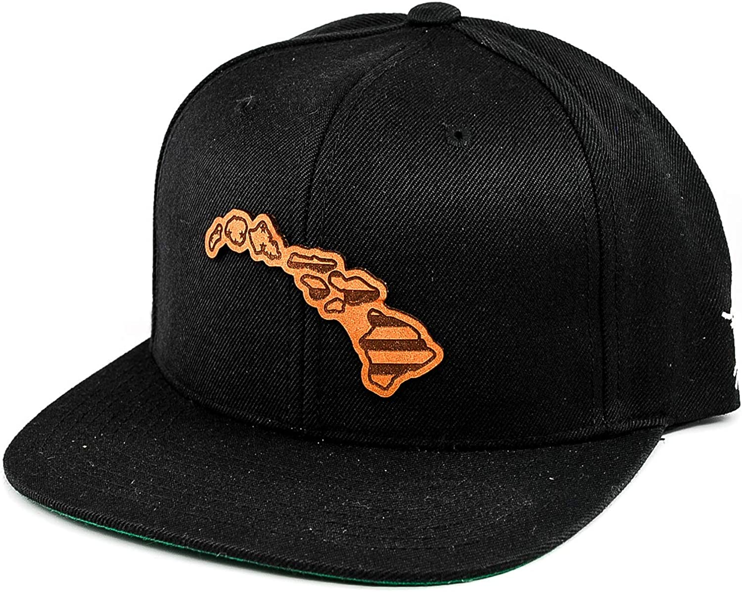 Branded Bills /'Hawaii Patriot/' Leather Patch Snapback Hat OSFA//Black
