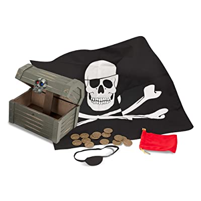 Melissa & Doug Wooden Pirate Chest: Melissa & Doug: Toys & Games