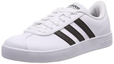 new style 60ae4 3e4ac adidas Unisex Kids  Vl Court 2.0 Tennis Shoes, White Cblack Ftwwht 000,