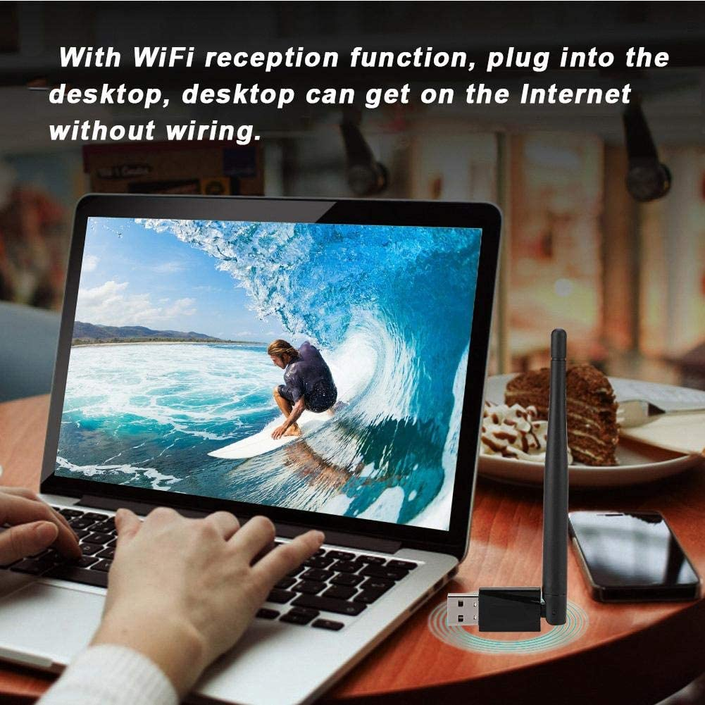 Tangxi Drive-Free Wireless Network Card Dual Band 600M Wireless Network Card 2.4G//5G Blutooth4.0 USB WiFi Adapter with 3.5dBi Antenna Support AP Function Compatible for Win XP//7//8//10