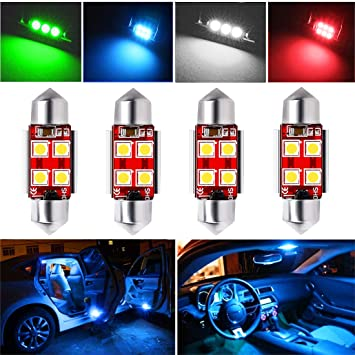 Botepon 4Pcs Super Bright DE3175 DE3022 6428 LED Bulb 31mm Festoon Bulb Canbus Error For Car interior Dome//Map//Trunk//License Plate Light 12V Ice Blue