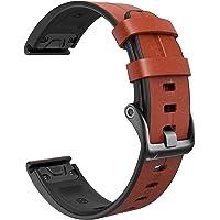 NotoCity Lederen armband voor Garmin Fenix 5X / Fenix 5X Plus / Fenix 6X / Fenix 6X Pro/Fenix 3 / Fenix 3 HR 26mm Quick…