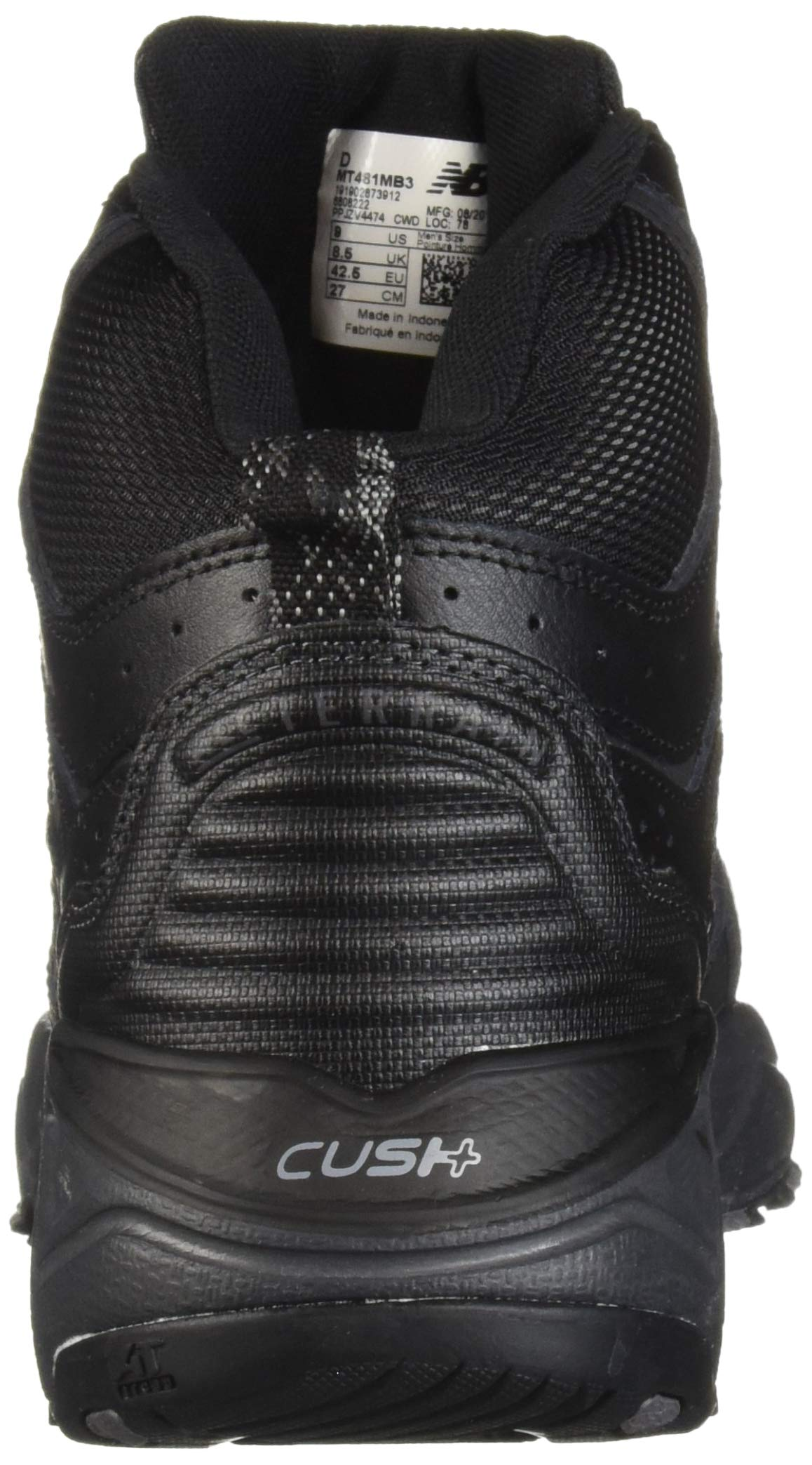 New Balance Men's 481 V3 Cushioning Trail Running Shoe Black/Magnet 9.5 D US by New Balance (Image #2)