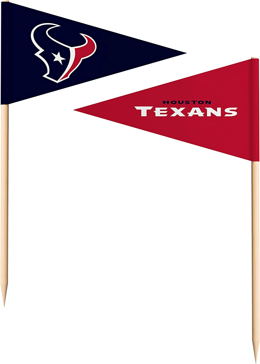 Amazon Com Sportsvault Nfl Houston Texans Toothpick Flags36 Piece Team Colors One Size Clothing