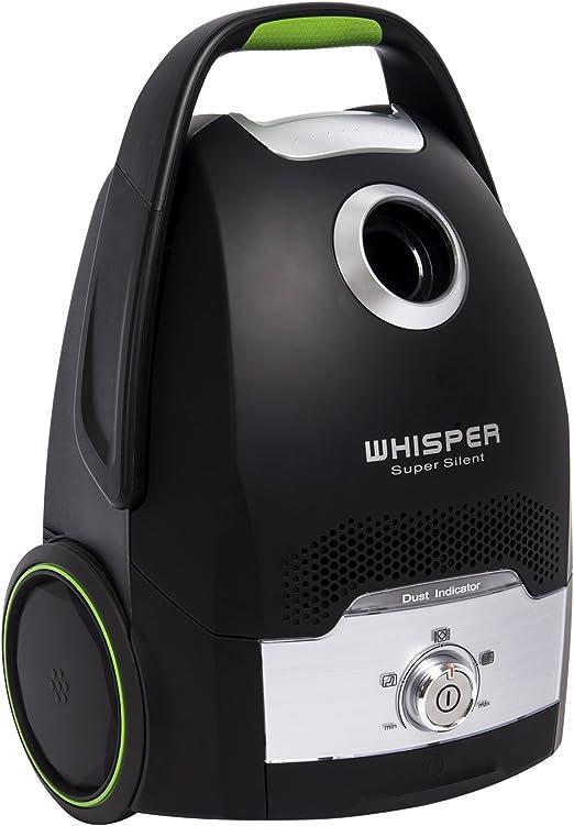 H.Koenig AXO6 - Aspirador trineo Silencioso, con bolsa AAA, 66 dB, filtro HEPA H12, Gran capacidad de 4 l, color negro [Clase de eficiencia energética A]: Amazon.es: Hogar