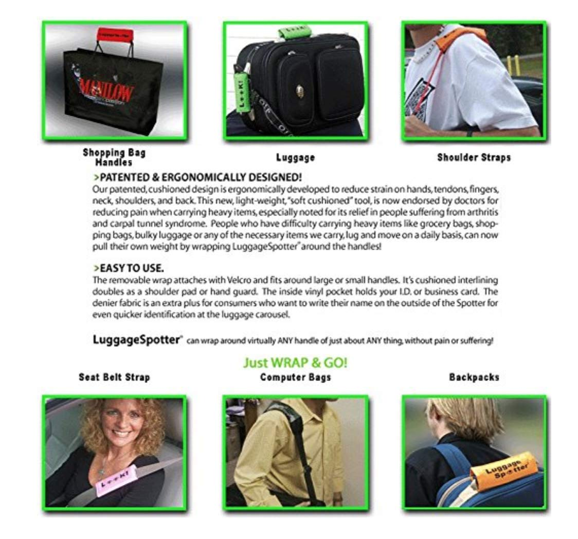 Luggage Spotter Florida Gators Chomp ON Luggage Locator/Handle Grip/Luggage Grip/Travel Bag Tag/Luggage Handle Wrap 2-PK by Luggage Spotter
