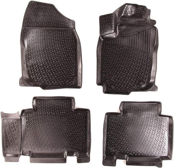 Sixtol Auto Fußmatten Set Für Den Toyota Rav4 Iv Passgenaue 3d Gummimatten Mit Befestigungslöchern Für Perfekten Halt Allwettertauglich Und Wasserdich Auto