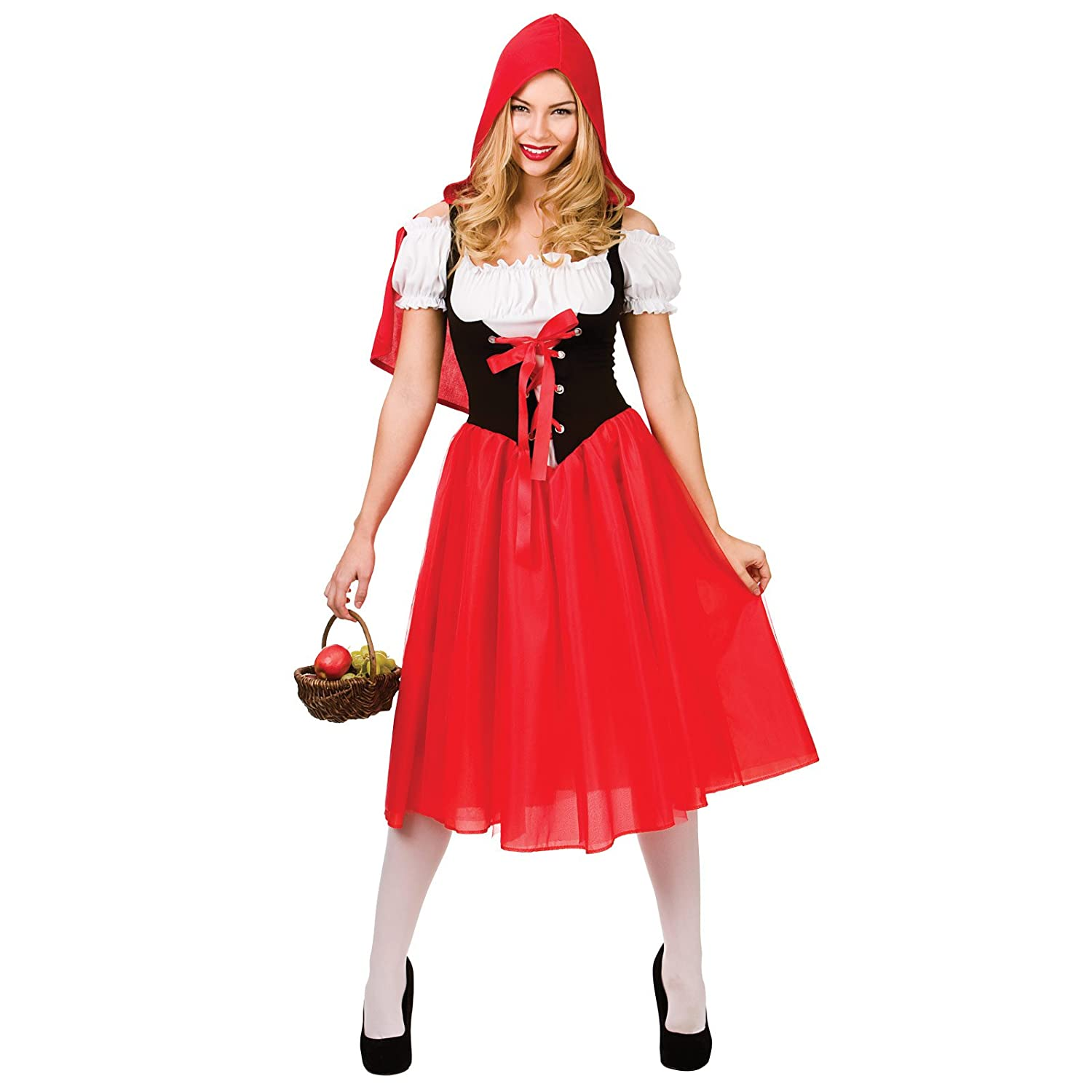 ladies little red riding hood fancy dress up party halloween