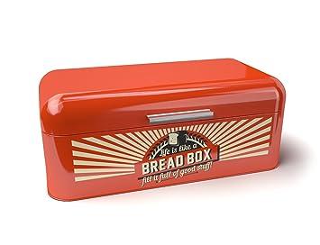 On Sale Today | Bridge To Bohdi Retro Style Red Bread Box Bin Perfect Kitchen Storage  sc 1 st  Amazon UK & On Sale Today | Bridge To Bohdi Retro Style Red Bread Box Bin ... Aboutintivar.Com