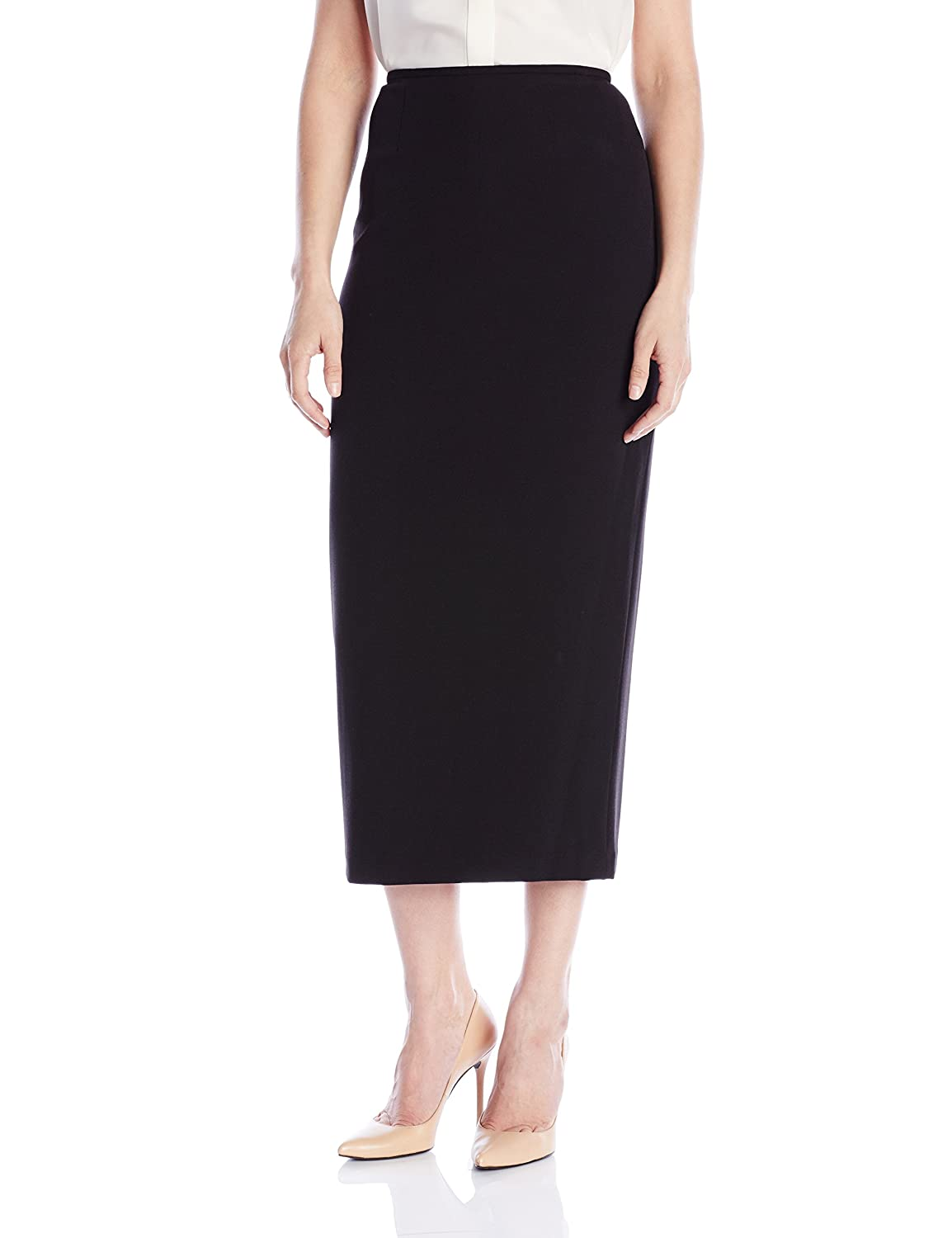 ff3f187402acc9 1930s Style Skirts : Midi Skirts, Tea Length, Pleated Kasper Womens Stretch  Crepe Column