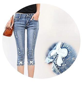 Amazon.com: Pantalones vaqueros de mujer de talla grande ...