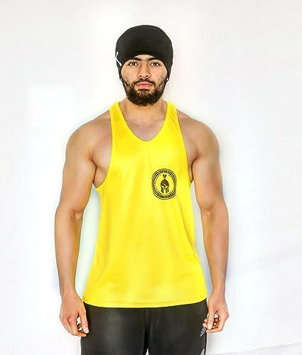 d2d28bf437792 Anax Aesthetics Yellow   Black Dry-Tuff Performance Small Logo Bodybuilding