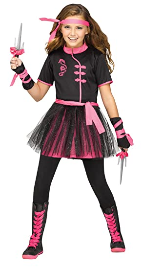 Amazon.com: UHC Girls Ninja Miss Outfit Toddler Fancy Dress ...