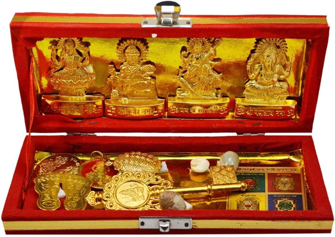 PARIJAT HANDICRAFT Brass Sri Finally popular brand Dhan Bhandari High material Laxmi Yantra f -Kuber