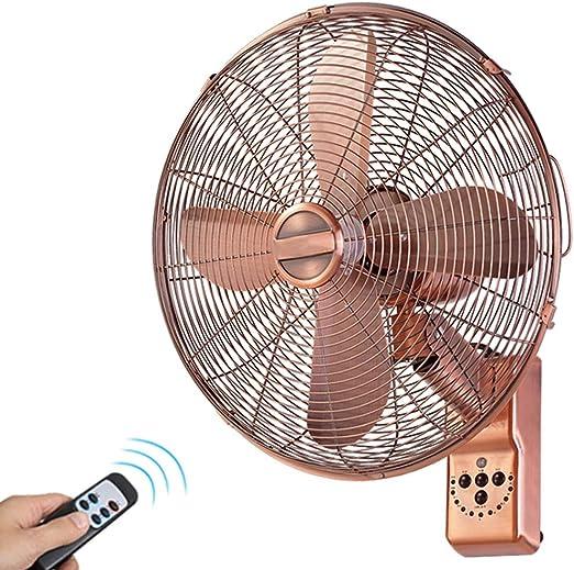 BGSFS Ventilador de Pared de Cobre Totalmente Retro , Ventilador oscilante Antiguo de 16