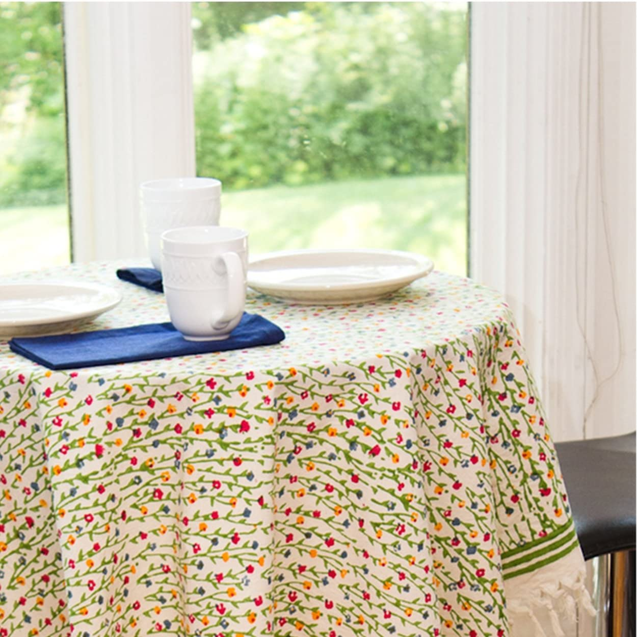 Set of 4 Psychedelic Cloth Napkins Flower Power Cotton Fabric Lunch Box Size Reversible Eco Friendly Table Linens