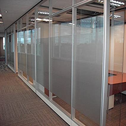 Coavas Privacy Window Film 35.5u0027u0027by78.8u0027u0027Decorative Static Cling Glass
