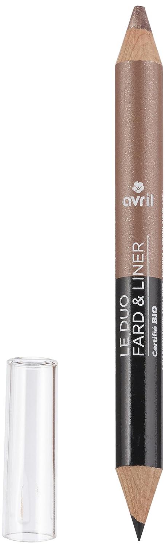 Avril orgánico certificado 2 en 1 Delineador de sombra de ojos y bronce Cuivre Dore), color beige