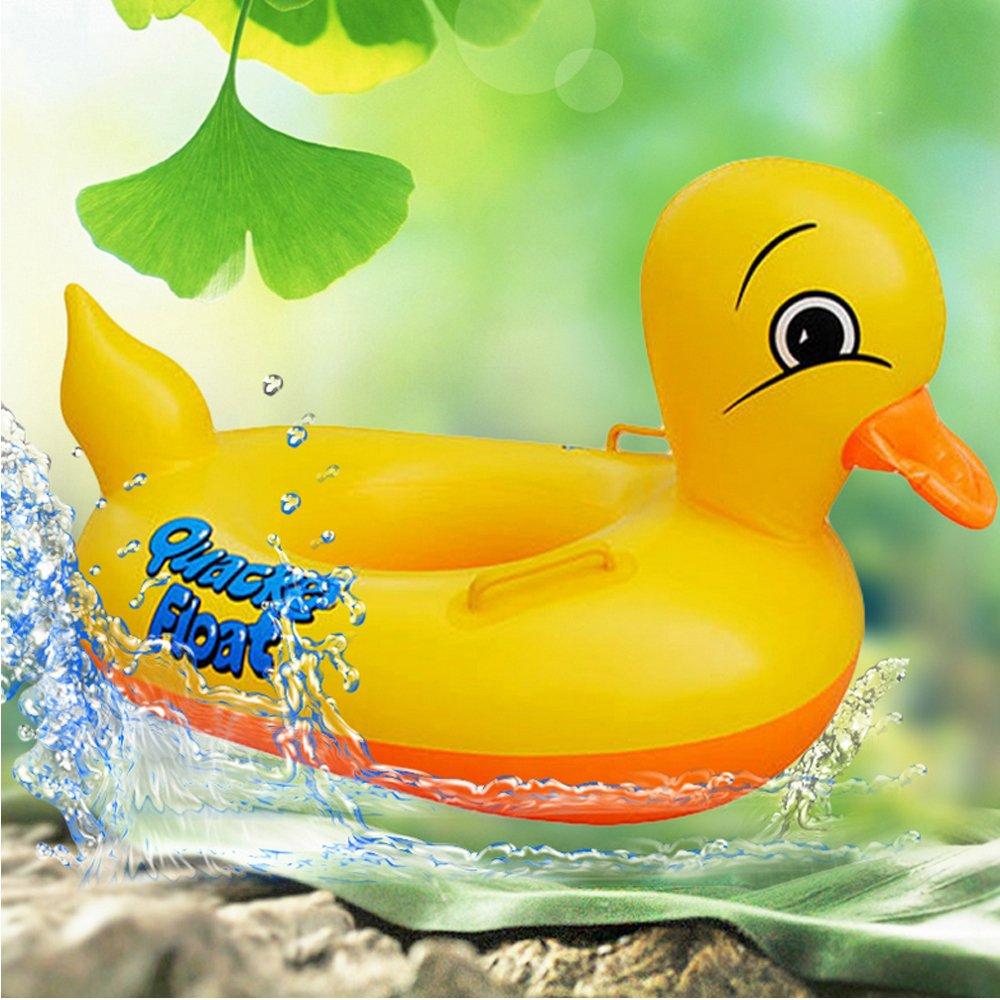 eonkoo Cute diseño de pato amarillo para bebé inflable piscina boya flotador para niños regalo agua salvavidas seguridad de los juguetes PVC redondo doble ...