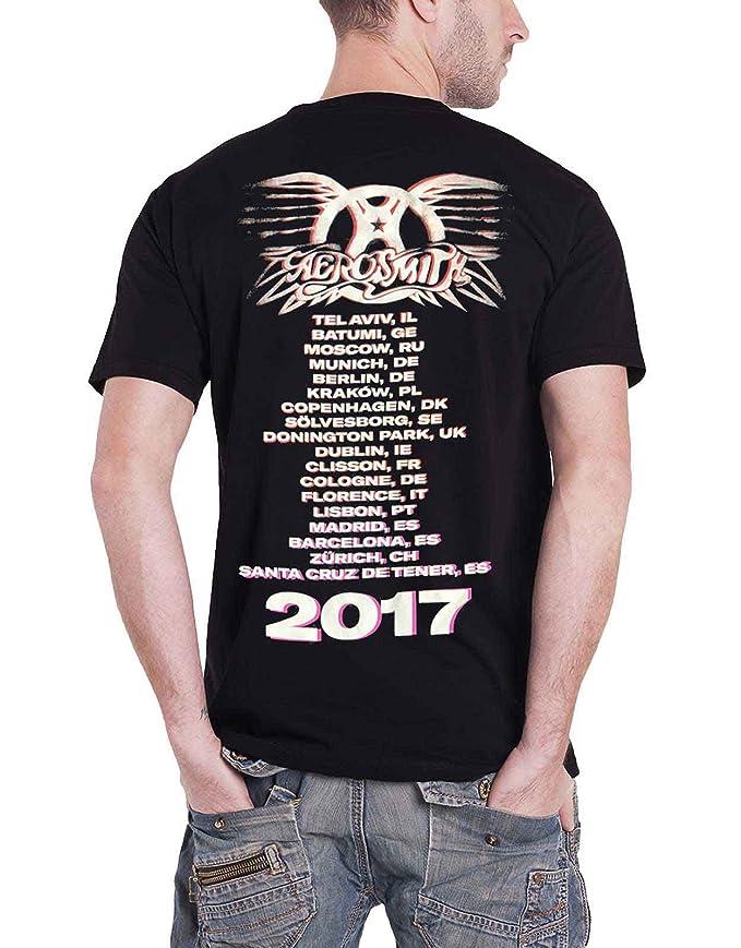 Amazon.com: Aerosmith T Shirt Aero Vederci Baby Euro Tour 2017 Official Mens Black: Clothing