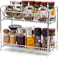 2-Tier Standing Spice Rack EZOWare Kitchen Bathroom Countertop Storage Organizer Shelf Pantry Holder