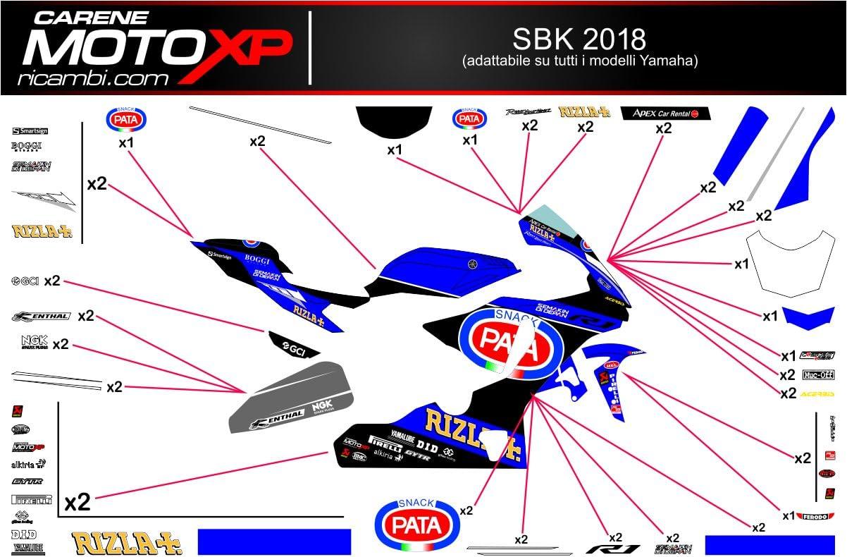 Pegatinas Adhesivos Motos Racing Yamaha R1 2015 2016 2017 2018 ...