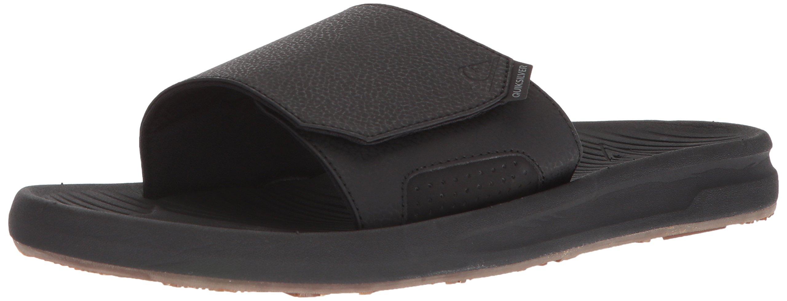 Quiksilver Men's Travel Oasis Slide Sandal, Black/Black/Brown, 8(41) M US