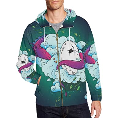 8d822d90 Amazon.com: InterestPrint Custom Unique Design Men's Zipper Hoodies ...