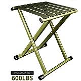 Folding Tripod Mini Stool Metal Legs And Canvas Seat