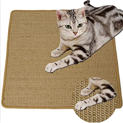 Non-Slip House Cat Sratching Pad, Natural Sisal Cat Paly Mat, Protective Cat